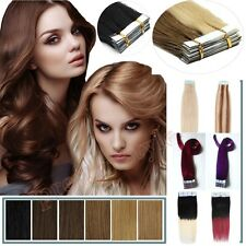 18Inch Seamless Tape In Skin Weft Brazilian Remy Human Hair Extensions 20-40pcs