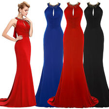 Elegant Lady Cocktail Evening Prom Long Formal Dress Bridesmaid Maxi Ball Gown
