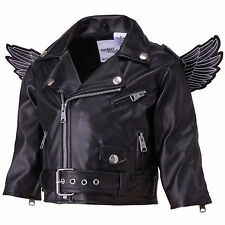 Adidas Originals Jeremy Scott Black Wings Biker Baby Toddler Jacket Little Angel