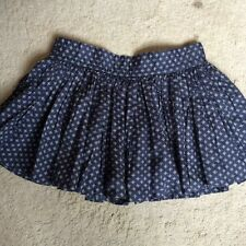 Jack Wills Size 8 Denim Blue cotton mini skirt- elasticated waist/ lined