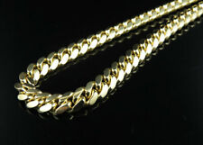 Solid 10K Yellow Gold 6 MM Miami Cuban Chain Heavy Link Necklace 26-36 Inches