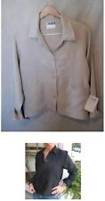 NEW FLAX EUROPEAN LINEN 4 BUTTON SHORT CLASSY JACKET  XS/Petite or Small 3COLORS