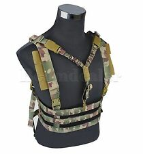 Tactical MOLLE Chest Rig Lightweight High Speed Vest QD Bungee Sling #GY