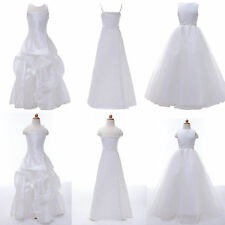 5 Styles White Princess Flower Girls Party Bridesmaid Maxi Long Dress 2~12 years