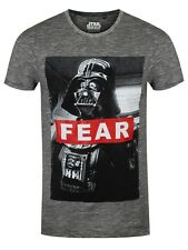 Star Wars Darth Vader Fear Men's Grey T-shirt