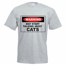 WARNING MAY START TALKING ABOUT CATS - Feline / Funny Gift Idea Mens T-Shirt
