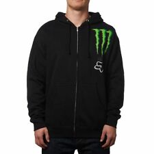 "FOX RACING MONSTER COLLABORATION ZIP UP ""ZEBRA"" MENS HOODY MX MOTORCROSS"