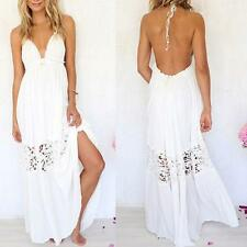 High Sexy Women Summer Boho Lace Long Maxi Evening Party Dress Beach Sundress