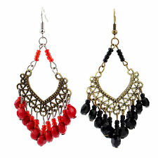 Multicolor Fashion Bohemia Bead Hollow Out Women Dangle Drop Earrings Jewelry BG