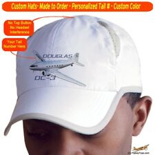 Douglas DC-3 Custom Cap Airplane Pilot Hat - Personalized with Your N#