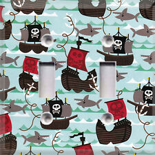 Pirates And Sharks~ Light Switch Cover ~ Home Decor~ Choose Your Plate~