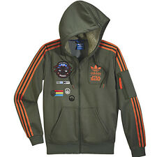 Adidas Originals Snoop DOG Jacket Scott Track Top Star Wars Hoodie Jedi Olive