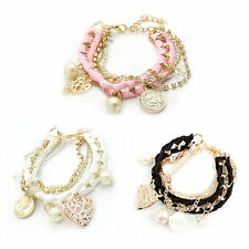 Bangle Lovely Cute Korean-style Hand-woven Fashion Multilayer Bracelet OE