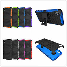 2 in 1 Heavy Duty Shockproof Sell Stand Hard Case Phone Cover For HTC desire 626