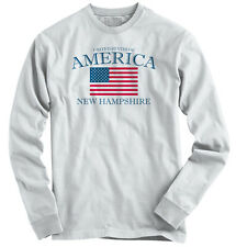 New Hampshire State Patriotic Gift Ideas American USA T Shirt Long Sleeve Tee