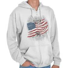 USA T Shirt Flag Bald Eagle Est. 1776 Mens Gift Ideas Graphic Zipper Hoodie