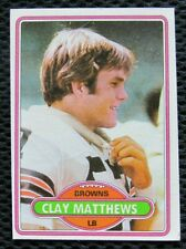 1980 TOPPS #418 CLAY MATTHEWS CLEVELAND BROWNS LINEBACKER ROOKIE CARD NEAR MINT7