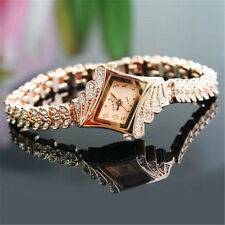 Fashion Women Alloy Crystal Quartz Rhombus Bracelet Bangle Wrist Watch 1pcs