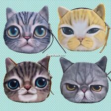 New Cute Cat Dog Face Lady Kids Girl Coin Purses Key Wallets Bag Pouch Gift