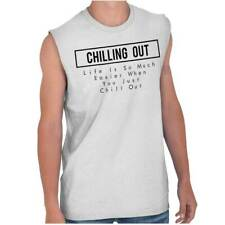 Chill Out Relaxing Women Shirts Funny Picture Shirt Gift Cool Sleeveless Tee