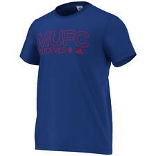 adidas Manchester United  2016 - 2017 Soccer Fan Tee Shirt Brand New Royal / Red