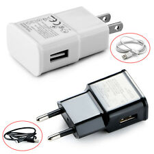 New 5V 2A Universal AC Travel Power Wall Charger Adapter USB Plug /Micro Cable