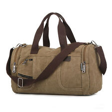 Men's Vintage Canvas Duffle Shoulder bags Handbag Travel Gym Sports Bags Luggage