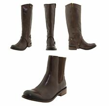 JUICY COUTURE WOMEN'S CALRTON KNEE HIGH FASHION RIDING BROWN LEATHER BOOTS