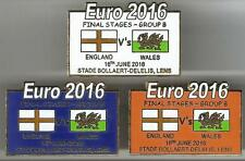 Euro 2016 Finals - England v Wales ~ Match Day Badge