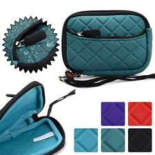 Quilted Water Resistant Digital Camera Protective Pouch Zipper Case FGL2ZZ3-5