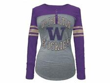 Washington Huskies NCAA Women's Vintage Raglan LS T-Shirt by 5th & Ocean 40% off