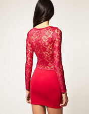 New ASOS Lace Insert BNWT £40 Bodycon Party Evening Club Date Night Out Dress