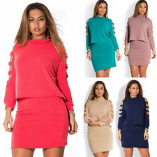 Large Size dress 2 Piece Set New Plus Size Women Casual Clothing Cut Out Dress