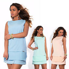 Women Large Size o-neck bodycon Dress women's plus size fashion Sleeveles Summer