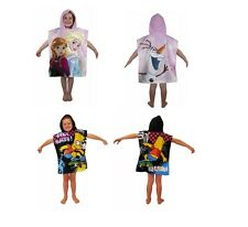 Official Hooded Kids Poncho Towels 100% Cotton Boys Girls Simpsons Frozen NEW