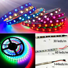 WS2812B 5050 RGB Flexible LED Strip Light 144 150 300 Individual Addressable 5V
