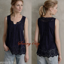 NWT XS Anthropologie Ladder Lace Tank By Meadow Rue 5 Star Review Flattering