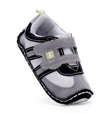 Toddler Baby boy Velcro First shoes soft Rubber sole crib shoes  0 to 18 months