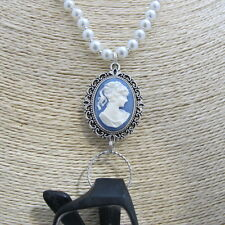 Victorian Lady Pearl Glasses Sunglasses Eyeglass Holder Necklace Specs Chain