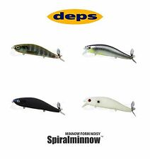 Deps Spiral Minnow Topwater Prop Bait Lure - Select Color(s)