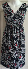 NEW~JOJO MAMAN BEBE~MATERNITY SUMMER DRESS NAVY RED WHITE FLORAL