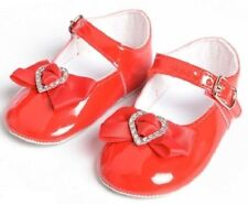 Little Cutie Red Baby Girl Patent Pram Christening Occasion Shoes