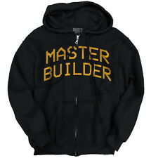 Master Builder Mine Craft Funny T Shirt Humorous Novelty Gift Zipper Hoodie