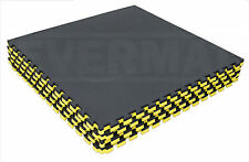40mm Black & Yellow Martial Arts Tatami Judo Karate MMA Gym Boxing Floor Mat