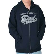 World's Greatest Dad #1 Father's Day Funny Shirt Humorous Gift Zipper Hoodie