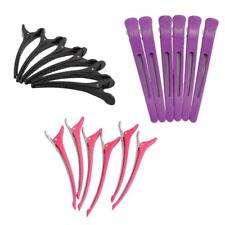 6pcs Salon Sectioning Clips Hairdressing Section Hair Styling Claw Grip Clamps