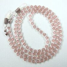 Rose Swarovski Crystal Eyeglass Holder Glasses Sunglasses Specs Cord Chain Leash