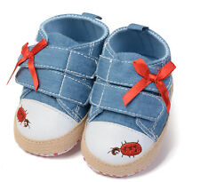 Toddler Baby Girl Bowknot First shoes soft cloth sole crib shoes Age 0-18 months