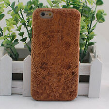 Maya Natural Cherry Wood Wooden Hard Cover Case for iPhone 6/6S or 6/6S Plus