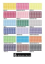 BERISFORDS GINGHAM CHECK RIBBON 15MM WIDE 18 COLOURS - CUT METRES OR FULL ROLL